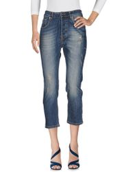 Ottod'Ame - Denim Trousers - Lyst