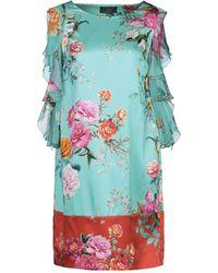 Clips Short Dress - Blue