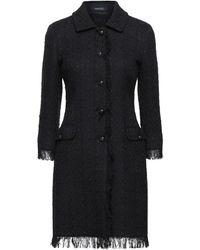 Tagliatore 0205 Overcoat - Black