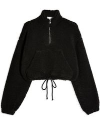 TOPSHOP Sweatshirt - Black