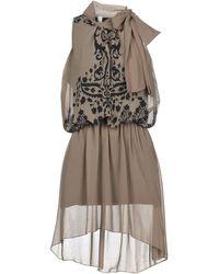 Paprika Short Dress - Gray