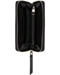 VERSACE JEANS Femme Noir Zip Around Wallet Purse