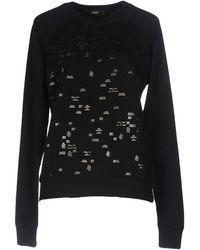 DIESEL - Mini Metallic Prints Sweatshirt - Lyst