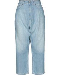 MM6 by Maison Martin Margiela Denim Trousers - Blue