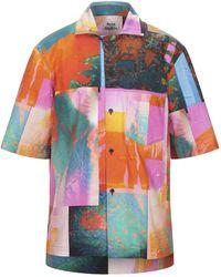 Acne Studios Camisa con estampado botánico - Rosa