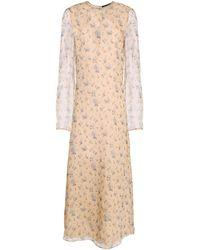 CALVIN KLEIN 205W39NYC Long Dress - Natural