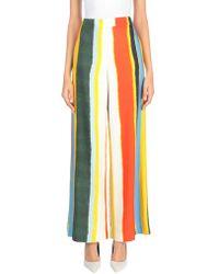 Tory Burch Striped Twill Wide-leg Trousers Multicolour