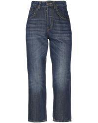 6397 Pantalones capri vaqueros - Azul
