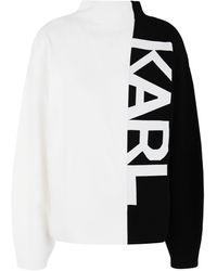 Karl Lagerfeld Turtleneck - White