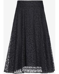 EMMA & GAIA 3/4 Length Skirt - Black
