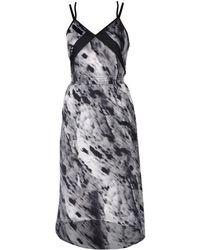 Blanc and Noir - 3/4 Length Dress - Lyst