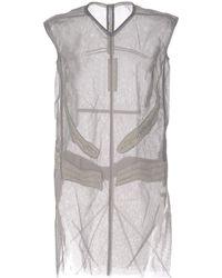 Rick Owens Short Dress - Grey