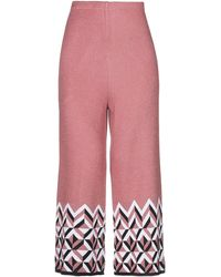VIKI-AND 3/4-length Trousers - Pink