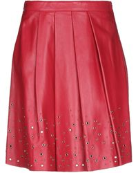 Boutique Moschino Knee Length Skirt - Red