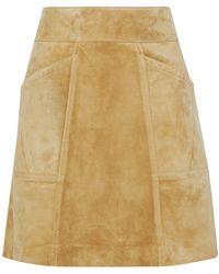Derek Lam Knee Length Skirt - Natural