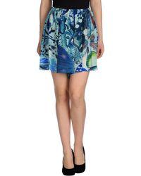 Lb - Mini Skirt - Lyst