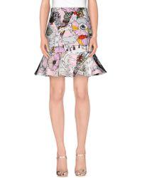 Mary Katrantzou Mars Printed Neoprene Mini Skirt - Pink