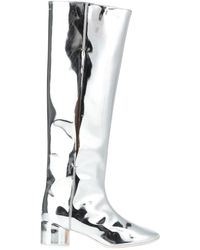 MM6 by Maison Martin Margiela Knee Boots - Metallic