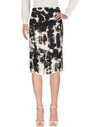 Cedric Charlier 3/4 Length Skirt - Black