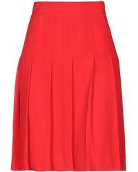 Marni Knee Length Skirt - Red