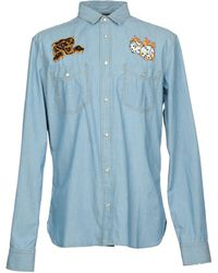Just Cavalli - Denim Dice Patch Shirt - Lyst