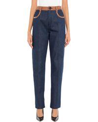 Wales Bonner Pantaloni jeans - Blu