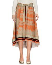 Manila Grace Midi Skirt - Orange