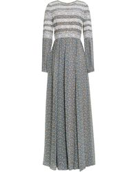 Mikael Aghal Long Dress - Grey