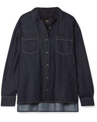 3x1 Joni Denim Shirt Dark Denim - Blue