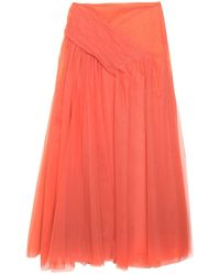Ki6? Who Are You? Long Skirt - Orange