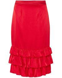 Maggie Marilyn Midi Skirt - Red
