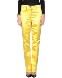 CALVIN KLEIN 205W39NYC Casual Trouser - Yellow