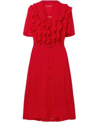 Commission Midi Dress - Red