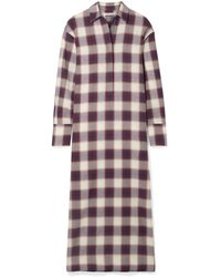 Elizabeth and James Badgley Checked Cotton Maxi Dress - Purple