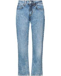 Boutique De La Femme Denim Trousers - Blue
