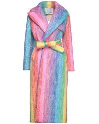 Giada Benincasa Manteau long - Multicolore