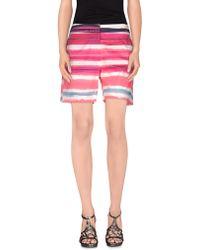 Blue Les Copains Bermuda Shorts - Purple