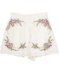 Zimmermann Shorts - White