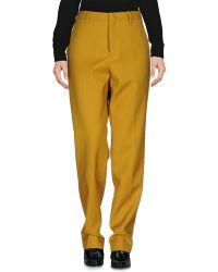 Jil Sander Casual Pants - Yellow