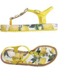 Dolce & Gabbana - Toe Strap Sandal - Lyst