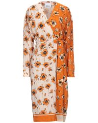 Erika Cavallini Semi Couture Midi Dress - Orange