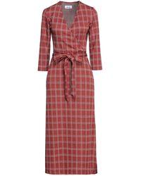 Niu Midi Dress - Red