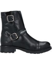 Armani Exchange Ankle Boots - Black