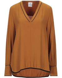 Attic And Barn Blouse - Brown