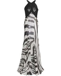 Roberto Cavalli Long Dress - White