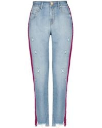 Don't Cry Denim Trousers - Blue