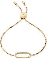 Michael Kors - Gold-tone Pavé Loop Slider Bracelet - Lyst