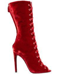Giambattista Valli Ankle Boots - Red