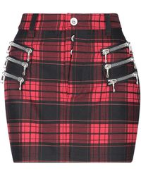 Unravel Project Mini Skirt - Red