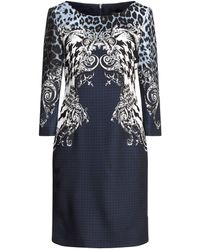 Class Roberto Cavalli Kurzes Kleid - Blau